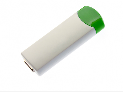 4GB USB-флэш накопитель UsbSouvenir ROTATE-A, белая-зеленая