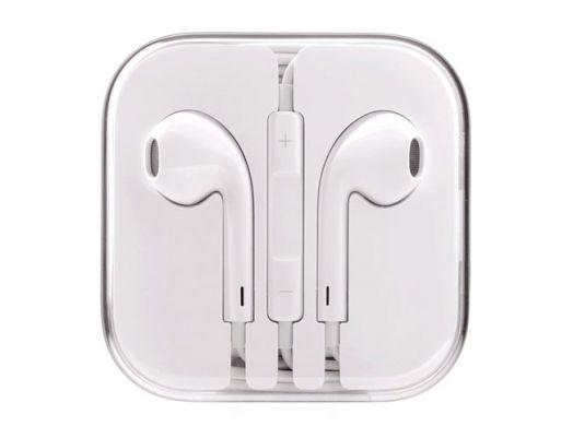 Наушники вакуумные - гарнитура Apple Iphone (белые) IP-06*