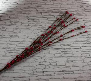 Веточка проволока 40 см. Цвет ярко-розовый (1 упаковка = 50 шт)