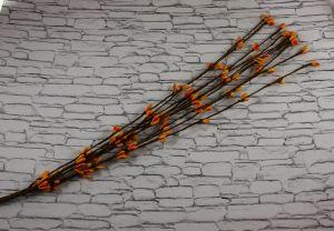 Веточка проволока 40 см. Цвет оранжевый (1 упаковка = 50 шт)