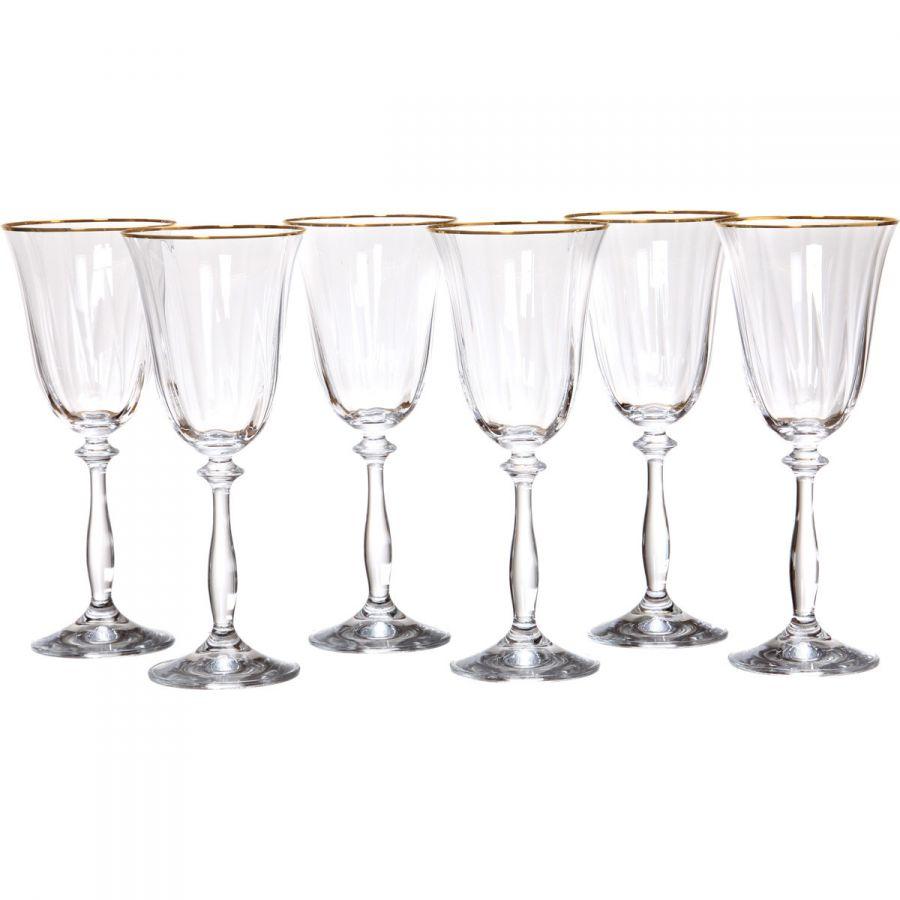 "Набор бокалов для вина ""Анжела оптик"" 250 мл, h=21 см, 6 шт."