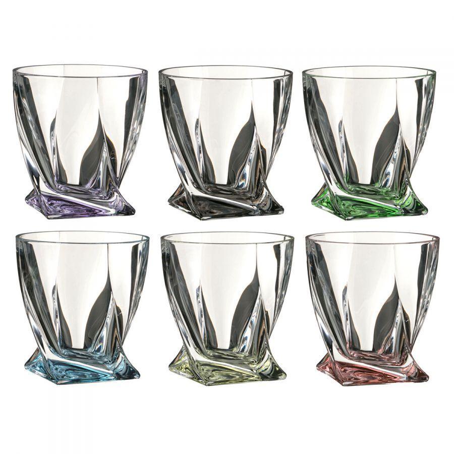 "Набор стаканов для виски ""Квадро декорейшн 72т76"" 340 мл, h=10 см, 6 шт."