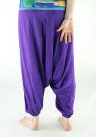 Яркие фиолетовые штаны алладины (афгани) из вискозы, интернет магазин, Москва