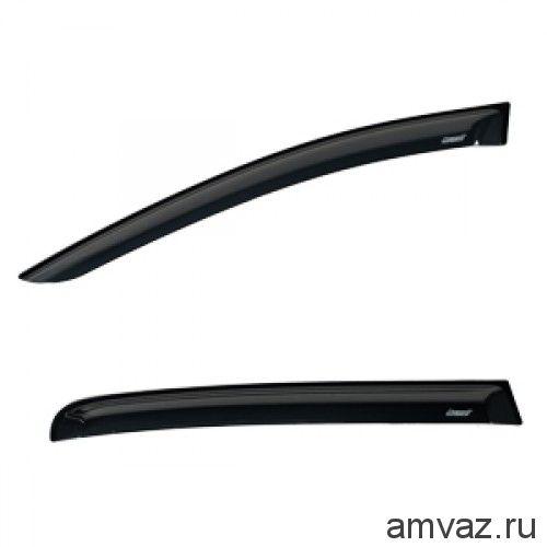 Дефлекторы на боковые стекла Voron Glass серия CORSAR Mazda 6 II 2007-2012/cедан/накладные/скотч/к-т 4 шт./