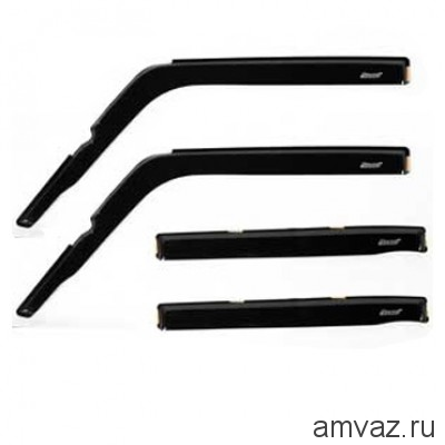 Дефлекторы на боковые стекла Voron Glass серия CORSAR Nissan Almera 2012-н.в. /седан/накладные/ скотч /к-т 4 шт./