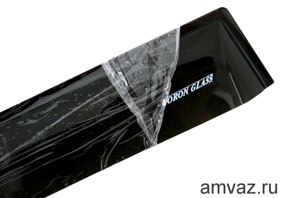 Дефлекторы на боковые стекла Voron Glass серия CORSAR Nissan Almera Classic 2006-2012/Nissan Almera II (N16) 2000-2006/cедан/накладные/скотч/к-т 4 шт./
