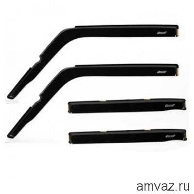 Дефлекторы на боковые стекла Voron Glass серия CORSAR Skoda Octavia A7 2013-н.в. /хетчбек/накладные/ скотч /к-т 4 шт./