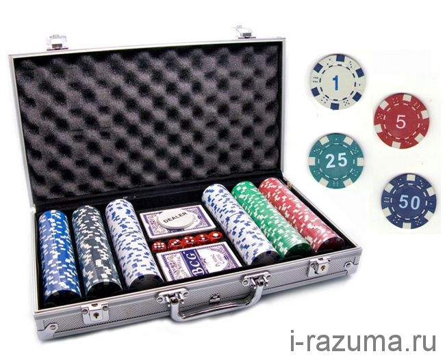Покерный набор на 300 фишек «PC» (фишка 11,5 гр./алюминиевый кейс)