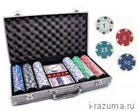 Покер PC в алюминиевом кейсе (300 фишек c номиналом, 11,5 г.)