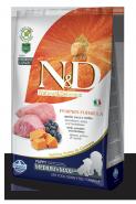 N&D Dog Grain Free Pumpkin Lamb & Blueberry Medium&Maxi Puppy Беззерновой корм для щенков, беременных и кормящих собак средних и крупных пород Ягненок/тыква/черника (2,5 кг)