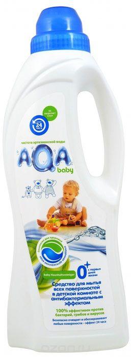 AQA baby Средство для мытья всех поверхностей в детской комнате с антибактериальным эффектом, 1л.