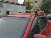 Багажник на крышу Renault Kaptur, Атлант, прямоугольные дуги, опора Е