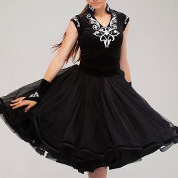Платье черное с накаткой