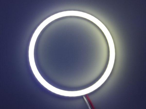 Светодиодные дневные ходовые огни — Ангельские глазки белого цвета 80 мм. 1шт.