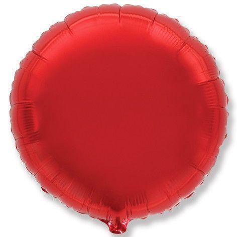 Круг красный шар фольгированный с гелием