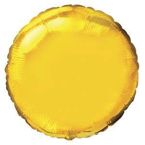 Круг золотой шар фольгированный с гелием