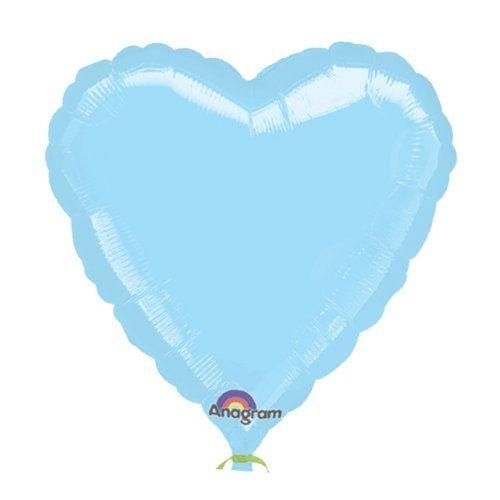 Сердце голубое шар фольгированный с гелием