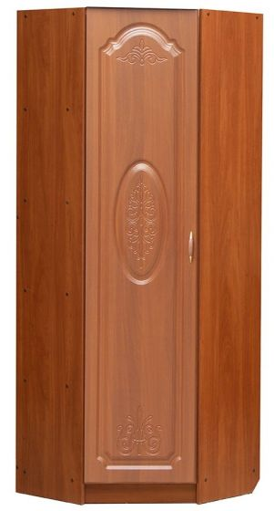 Шкаф   1 дверный угловой с полками и штангой (только левый)  Модуль 08