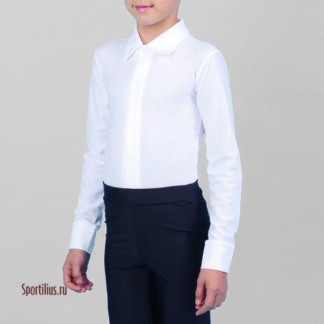Белая рубашка на молнии для танцев