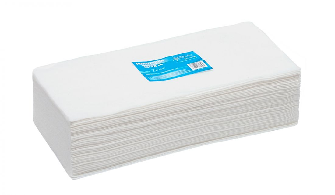 Полотенце малое White line 35*70 пачка белый спанлейс (№50шт)