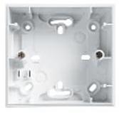 Монтажная коробка Unica 1 пост для наружной проводки 36 мм белая