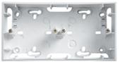 Монтажная коробка Unica 2 поста для наружной проводки 36 мм белая