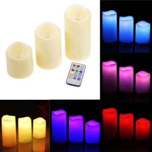 Свечи LED, изменяющие цвет с пультом (набор 3 шт.)