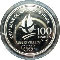 Франция 100 франков 1989 г. - Парное фигурное катание