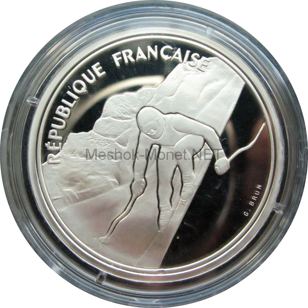 Франция 100 франков 1989 г. - Горнолыжный спорт