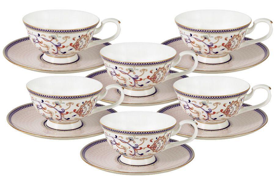 "Чайный набор на 6 персон ""Королева Анна"", 6 пр., 0.2 л"
