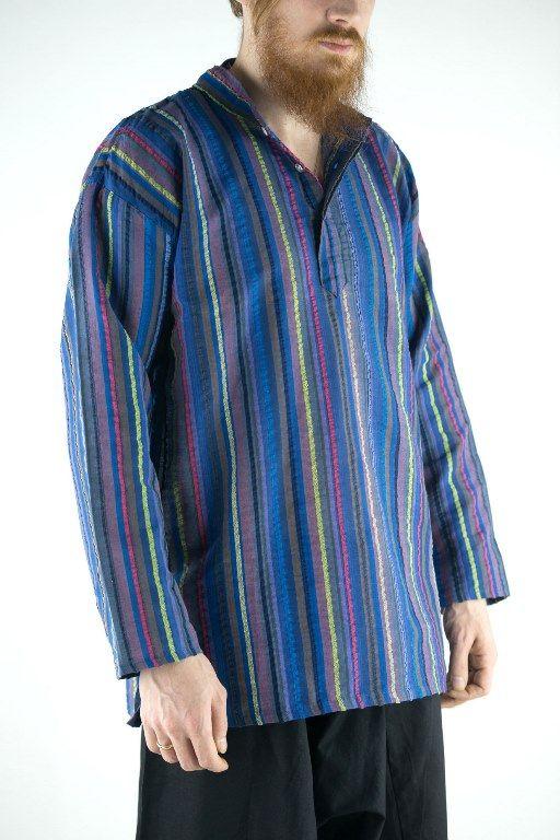 Разные цвета! Хлопковая рубашка в полоску (Москва)