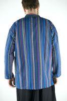 Полосатая синяя мужская рубашка, хлопок, Индия. Купить в интернет магазине в Москве
