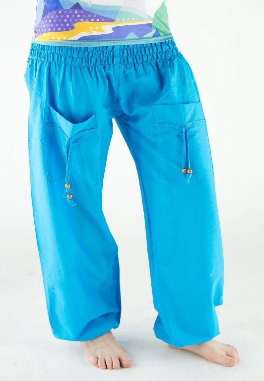 Разные цвета! Однотонные женские шаровары с карманами (отправка из Индии)