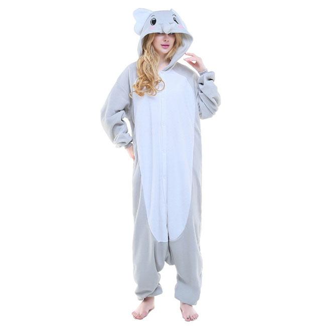 Пижама Кигуруми Слон Серый Премиум