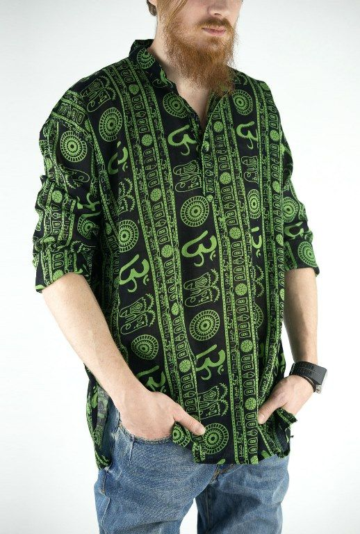 Легкая индийские мужские рубашки, разные цвета (отправка из Индии)