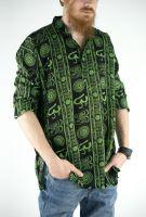 Чёрная легкая мужская индийская рубашка. Купить недорого в интернет магазине Ind-Bazaar.ru