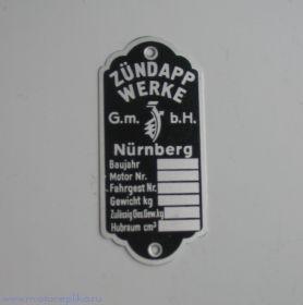 Табличка Zundapp