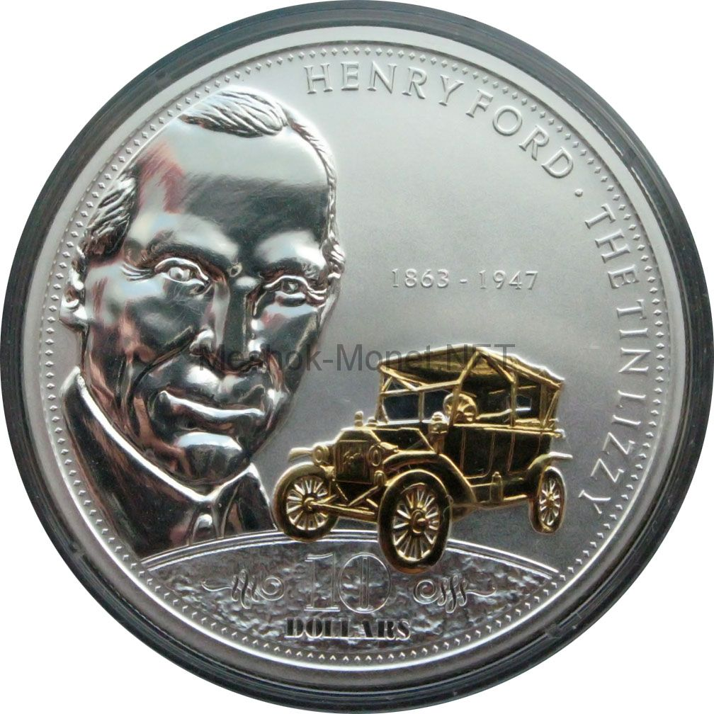 Острова Кука 10 долларов 2008 г. Генри Форд