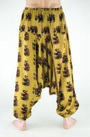 Мужские хлопковые штаны алладины с индийскими слонами, купить с доставкой из Индии