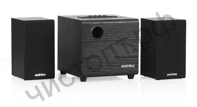 Актив.колонки 2.1 SmartBuy® SPARTA, MP3, FM, корпус МДФ, черн (SBA-200)