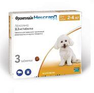 Фронтлайн НексгарД Жевательные таблетки для собак 2-4 кг (3 табл.)