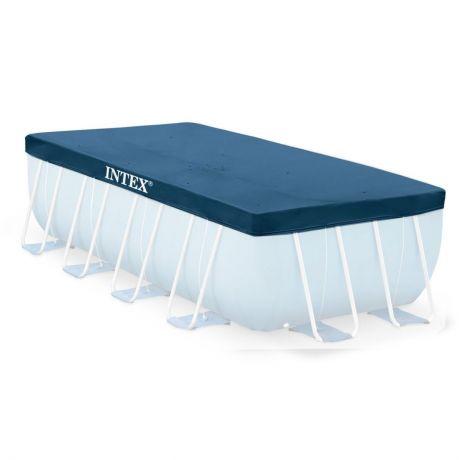 Intex 28037 Тент для прямоугольных каркасных бассейнов Rectangular Pool Cover (размер 389 х 184 см)