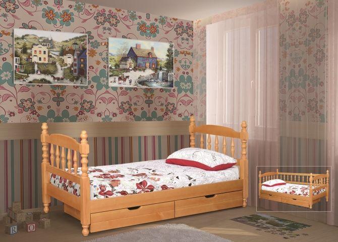 Детская точеная № 1 одноярусная кровать | Альянс XXI век