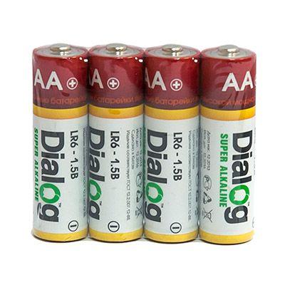 Батарейка щелочная АА Dialog, 4 шт. в термоплёнке LR6-4S