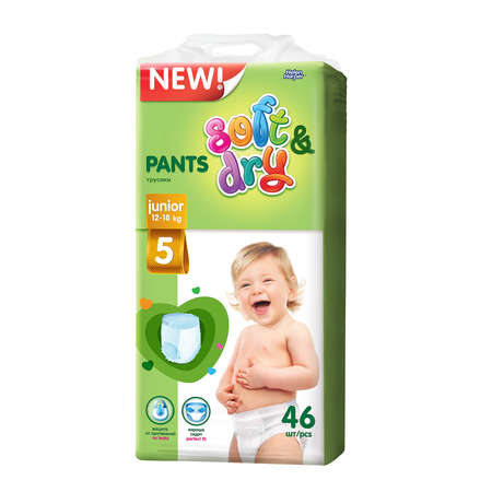 Helen Harper  Детские трусики  Soft Dry junior (12-18 кг) 46 шт