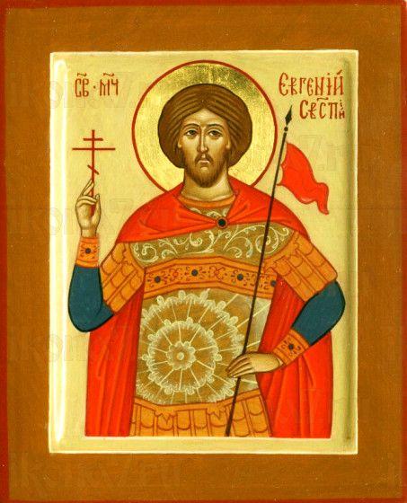 Евгений Севастийский (рукописная икона)