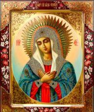 Умиление Серафимо-Дивеевская (рукописная икона)