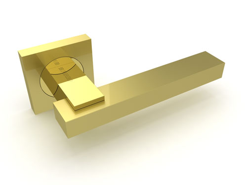 Ручка дверная Blues KM SG-GP матовое золото-золото