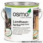Непрозрачная краска для наружных работ Osmo Landhausfarbe 2101 белая 0,125 л