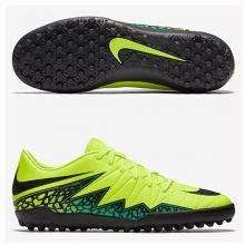 Шиповки-сороконожки Nike Hypervenom Phelon II TF салатовые